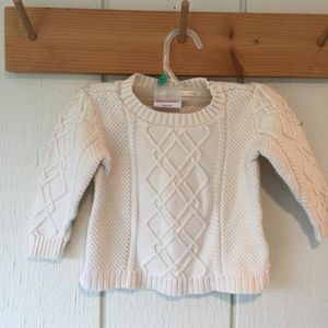 Hanna Andersson cream cable sweater sz 80 (2T)